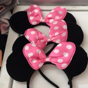 Lot of 3 Minnie Mouse headband ears new
